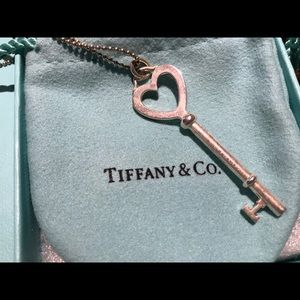 Tiffany & Co Heart Key pendant necklace